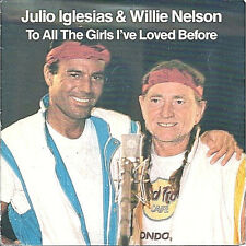 Vinyle 45 T, Julio Iglesias, et Willie Nelson