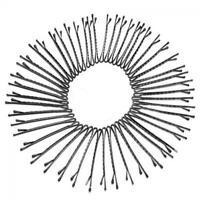 60Pcs black salon les femmes cheveux la mode grip clip barrette l'épingle pince