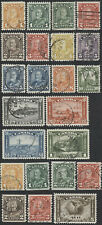 Canada #162-183, #C2 George V Arch Issue with Coils and Airmail, F-VF, CDS Cxls