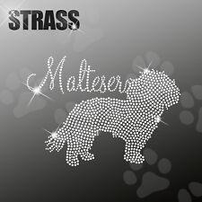 MALTESE M1 CANE APPLICAZIONE FERRO STIRO hotfix 22cm largo