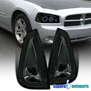 For 2006-2010 Dodge Charger Corner Lamps Signal Lights Smoke