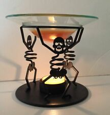 Partylite Aroma Melt Wax Warmer Bones Skeleton Halloween P8603 Retired