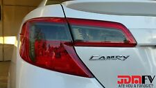 12-14 Toyota Camry SMOKED Tail Light Overlays Tint Vinyl Film Precut SMOKEOUT