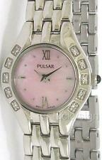 PULSAR BY SEIKO LADIES 10 GENUINE DIAMOND MOP  WATCH