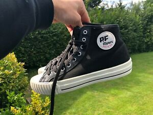 RARE Vintage NWOB PF Flyers Black High Top Sneakers Mens 8.5 M Canvas Limited Ed