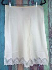 Vtg Lady Lynne Sz Small Half Slip Skirt Lingerie Off White Lace Nylon Usa