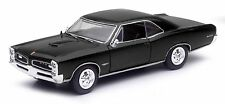 NEW RAY 1966 PONTIAC GTO HARD TOP 1/24 DIECAST CAR BLACK NEW 71853B