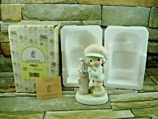 """Precious Moments Golfer Golf Clubs """"You Suit Me To A Tee"""" 1993 Retired Figurine"""