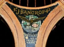 Antique Vintage Wood 1915 Bancroft The Winner Tennis Racket Great Decal