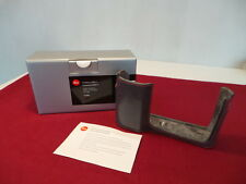 MINTY LEICA 18800 CASE LEICA T STONE GREY LEATHER CASE /PROTECTOR CASE/HALF CASE