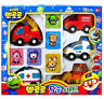 Pororo 5 Mini Car & 5 Figures Toy Set Characters Animation Children's Kids Gift