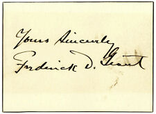General Frederick Dent Grant Signed Card -- Son of U.S.