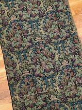 Antique fruit-floral in bow tied frames cotton jacquard tapestry sample, c. 1900