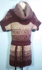 SUPERB Moda International Lambs-Wool/Mohair Blend Huge Cowl-Neck Sweater-Dress S