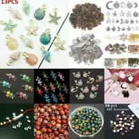 100Pcs Conch Shell Animal Flowers Mixed Beads Charms Pendant Jewelry DIY Making