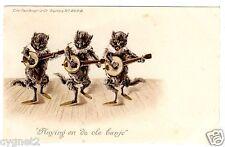 "POSTCARD CATS ""PLAYING ON DE OLE BANJO"" FAULKNER SERIES 267"