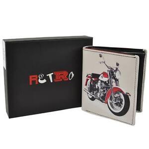 Hommes Trois Plis Portefeuille Cuir Par Retro Harley Davidson en Boite Cadeau