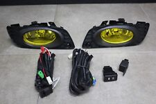 2012 Honda Civic 4 dr Sedan  Black JDM Yellow Fog Light Kit + Harness + Switch
