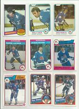 QUEBEC NORDIQUES VINTAGE HOCKEY CARDS LOT OF 27 STASTNY GOULET ++ O-PEE-CHEE