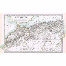 Antico Mappa 1914-Marocco, ALGERIA, TUNISIA (Africa NW) per W & AK Johnston
