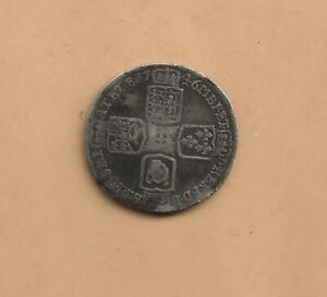 1746 GEORGE II SILVER SIX PENCE COIN