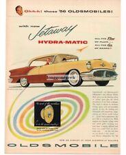 1956 Oldsmobile Super 88 Holiday Sedan 2-tone Brown art Vintage Ad