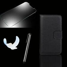 Wallet Handy Tasche für Samsung Galaxy + Panzer Glas Folie Flip Case Etui Triton