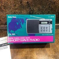 Radio Shack AM FM Shortwave SW1 SW2 Radio Model DX-395 w box ~ PLL Synthesized
