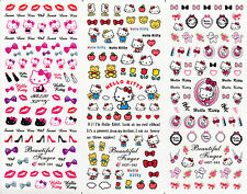 Nail Art Water Decal Sticker Hello Kitty Heart Bow HOT091-93