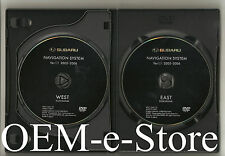2006 2007 2008 Subaru Tribeca / B9 Outback Legacy Navigation DVD Map 2 Disc Set
