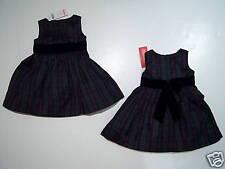NWT Gymboree Holiday Classics Ink Plaid Dress 6-12 9-12