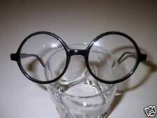 Vintage Style Eyeglasses Bigger Round Black