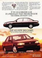 Original Advertisement Car Print Ad J329 1993 Toyota Camry LE V6 Sedan
