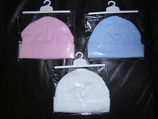 Patternless 100% Cotton Baby Caps & Hats