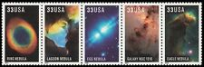 2000 33c Edwin Powell Hubble, Telescope, Strip of 5 Scott 3384-88 Mint F/VF NH