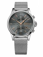 NEW HUGO BOSS HB 1513440 MENS GREY JET CHRONOGRAPH WATCH - 2 YEARS WARRANTY