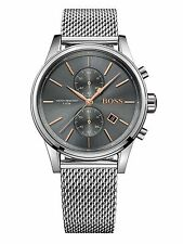 NEW HUGO BOSS HB 1513440 MENS GREY JET CHRONOGRAPH WATCH - 2 YEAR WARRANTY