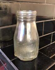 Wakefield Castrol Embossed 1 Imperial Pint Vintage Oil Bottle A/F