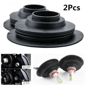 2X Car LED Headlight Dust Cover Cap Waterproof Dustproof C6 Inner Diameter 32mm