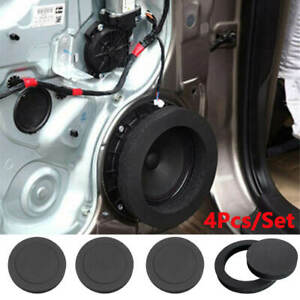 4Pcs 6.5'' Car Audio Speaker Insulation Bass Ring Cotton Rubber Pad Foam