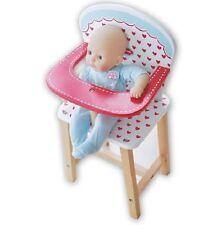 Brand New Indigo Jamm Hearts High Chair Dolls Wooden Pretend Play