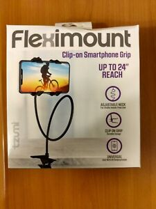"""(NEW) TZUMI Fleximount Clip-On Grip Cell Phone Holder Up to 24"""" Reach Adjustable"""