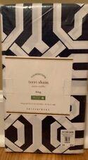 New Pottery Barn Terri Organic King Pillow Sham Navy