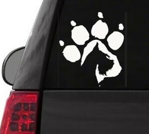 I130 SCHNAUZER DOG PAW CANINE  YETI CUP  DECAL CAR TRUCK  LAPTOP SURFACE