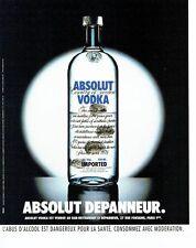 Publicité Advertising  2001  Absolut vodka  bar resto Le Dépanneur Paris
