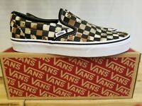 NEW IN THE BOX VANS CLASSIC SLIP-ON CHECKERBOARD CAMO VN0A4BV3V4P FOR MEN