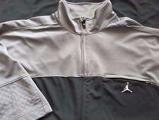 Air Jordan Full Zip Jacket Polyester Basketball Short Sleeve Mens XLT (A847-B4)