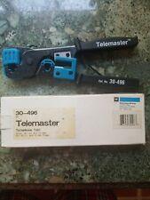 New Ideal Crimping Tool Telemaster 30-496 Ratchet Cut & Strip Tool Rj-11 Rj-45