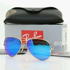 NEW !!Auth Ray Ban Aviator RB3025 112/17 58/14 Gold Blue Mirror Lens 58mm