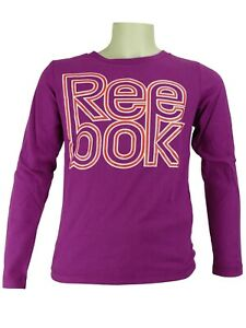 REEBOK LONGSLEEVE T-Shirt langarm Shirt glitzernd Größe 128 140 152 164 176 NEU